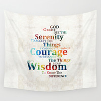 Colorful Serenity Prayer by Sharon Cummings Wall Tapestry by Sharon Cummings