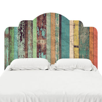 Distressed Panels Headboard Decal