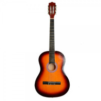 "38"" Professional Acoustic Classic Guitar Sunset Color with Pick and String"