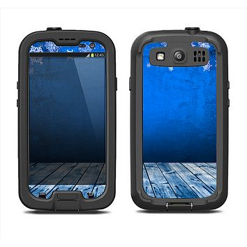 The Snowy Blue Wooden Dock Samsung Galaxy S3 LifeProof Fre Case Skin Set