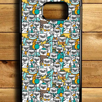 Pug Pattern Samsung Galaxy S6 Edge Case