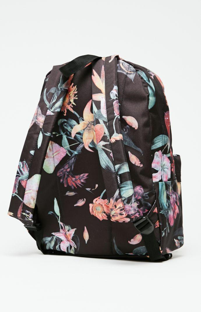 dc2bb8a0543cc Vans Old Skool II Floral School Backpack - Mens Backpacks - Black - NOSZ