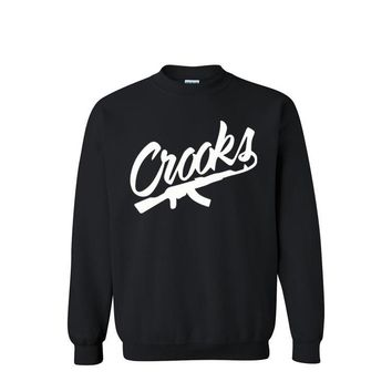 2017 Crooks and Castles Hoodies Sweatshirts For Men Streetwear Hombre Hip Hop Hoodies Crewneck Sudaderas Skateboard Size XS-XXL