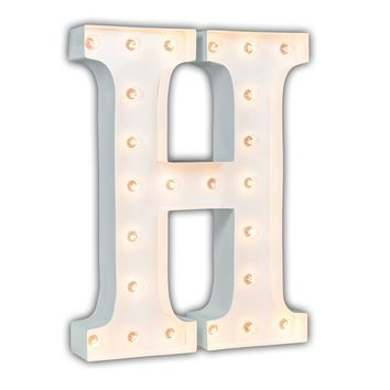 "24"" Letter H Lighted Marquee Letters (White Gloss)"