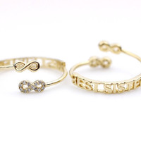 Infinity Best Sister Knuckle Ring in 3 colors (Adjustable Knuckle Ring)