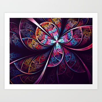 Abstract Flower Art Print by Oksana