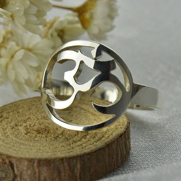 Sterling Silver Yoga OM Ring ~Peace and Calm Yoga Jewelry ~