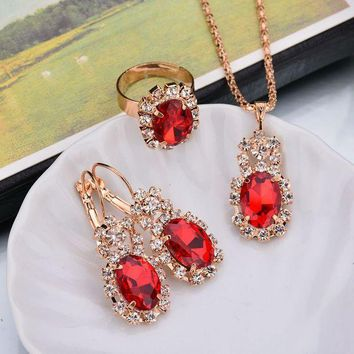 ca PEAPTM4 Shiny New Arrival Gift Stylish Jewelry Accessory Hot Sale Set Luxury Earrings Necklace [302110539817]