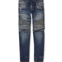 Balmain - Regular-Fit Washed-Denim Biker Jeans | MR PORTER