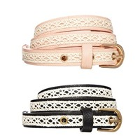 New Look Crochet Skinny Belts 2 Pack