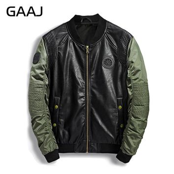 2018 Spring Summer Military Bomber Jacket Men Camo Streetwear Leather Denim Camouflage Army Biker Jackets Pilot For Men's Coat