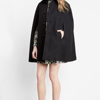 Women's Saint Laurent Felted Wool Cape
