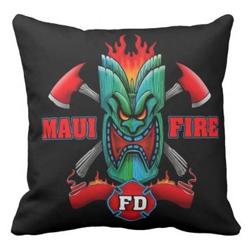 Maui Fire Throw Pillow