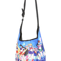 Sailor Moon Sailor Scouts Blue Hobo Bag