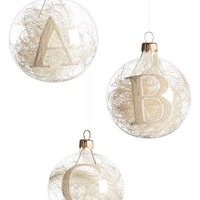 Nordstrom at Home Monogram Ball Ornament | Nordstrom
