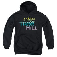 ONE TREE HILL/COLOR BLEND LOGO-YOUTH PULL-OVER HOODIE - BLACK -