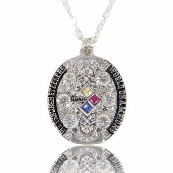 New Design Fashion Pittsburgh Steelers Super Cup Champion Necklace Crystal Party Jewelry Fans Necklaces Gift
