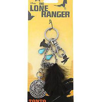 Licensed cool Disney The Lone Ranger Movie Backpack  Bag Clip Keychain Tonto Coin Charm NEW