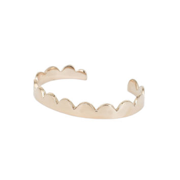 Annie Costello Brown - Simple Scallop Cuff