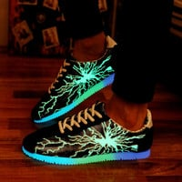 Lightning Luminous Shoes Fluorescent Light Unisex Sneakers Light Shoes