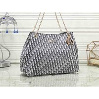 DIOR fashion print casual shoulder bag popular shopping bag for women #2