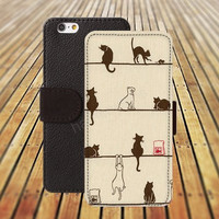 iphone 5 5s case dream cartoon cat iphone 4/4s iPhone 6 6 Plus iphone 5C Wallet Case,iPhone 5 Case,Cover,Cases colorful pattern L310