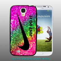 Nike Just Do It Rainbow - design for Samsung Galaxy S4 Black case