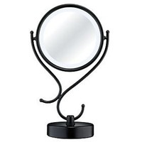 Reflections by Conair Home Vanity Fluorescent Collection Mirror, Matte Black Finish