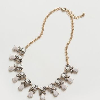 Tiana Grey Crystal Statement Necklace