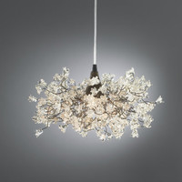 Light Fixture clear Transparent jumping flowers for living room, bedroom or as bathroom light.