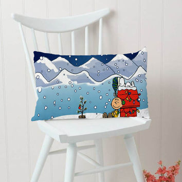 Charlie Brown And Snoopy Christmas Pillow Cases Rectangular Pillow Cover, Pillow Case, Cushions Pillow Cover, Home Decor Pillow, Bed Pillow