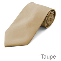 Taupe Tie and Hanky Set