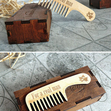Beard comb Personalized Wooden Beard Comb Gift for dad Gift for him Gifts for boyfriend Valentine gifts for men