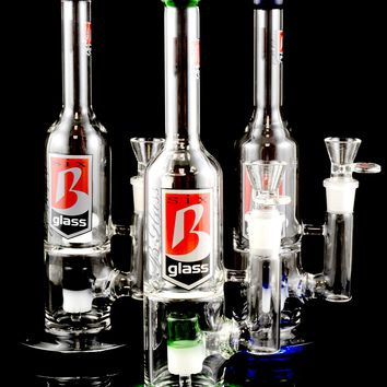 Stemless GoG Wine Bottle Water Pipe with Stereo Dome Percs - WP805