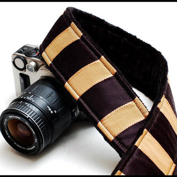 Unisex fashion camera Strap with genuine Leather by sizzlestrapz