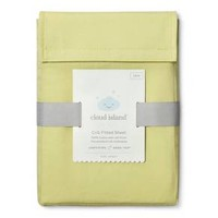Fitted Crib Sheet Solid - Cloud Island™ - Lime Green