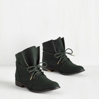 Military Whole Java Love Bootie in Deep Teal by ModCloth