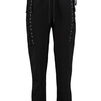Harper Lace Up Side Sweat Joggers | Boohoo