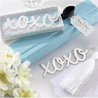 Creative XOXO Bookmark Wedding Favors And Gifts