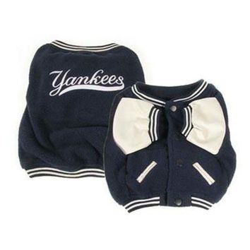 DCCKOP9 New York Yankees Varsity Dog Jacket