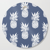Pineapple Blues Cutting Board by allisone