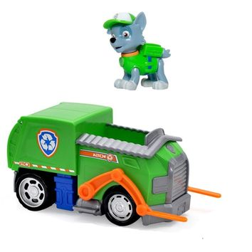 Paw Patrol Rocky Recycling Truck Dogs Brinquedos Dolls Dog puppy patrol Toys action figure kids Gift Juguetes toy Genuine