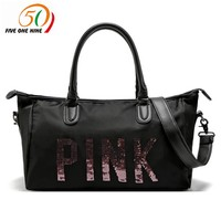2017 hot design  PINK Duffle Bag Tote Marl black pink beach vs pink bag