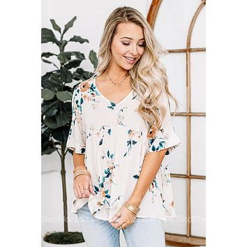 Floral Admiration Babydoll Top