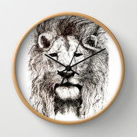 Lion Wall Clock by Between The Weeds-Laurie Rohner Studio