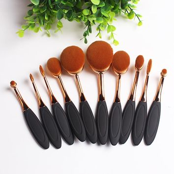 10pcs Makeup Brush Set Professional Foundation Eyeliner Powder Eyeshadow Cosmetics Make Up Beauty Essential Makeup Brushes Tools
