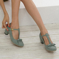 YESSTYLE: Nongli- Bow-Accent T-Strap Pumps - Free International Shipping on orders over $150