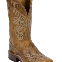 Justin Bent Rail Tan Damiana Cowgirl Boots - Square Toe - Sheplers