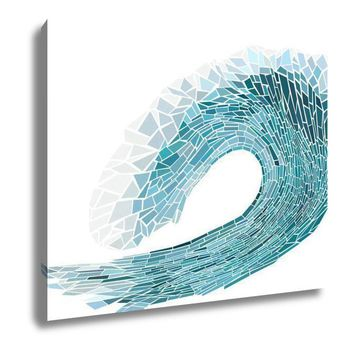 Canvas Illustration Mosaic Of Wave With Foam 16x20