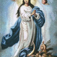 Lady of Assumption Tapestry Wall Hanging